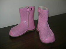 CLARKS FIRST SHOES BABY GIRL INFANT BOOTS PINK LEATHER EU SIZE 22 / UK 5.5 F