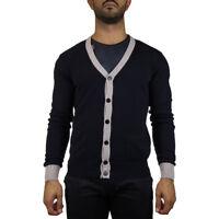 Peuterey PEU2597 Berties Maglia Cardigan Uomo Cotone Blu tg M  -27 % OCCASIONE