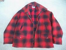 Vintage Sportclad Buffalo Wool Plaid Hunting Work Jacket Coat Size 44 XL Men's