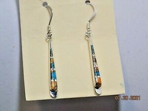 Spiny Turquoise Earrings in Sterling Silver