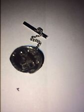 Denarius Of Nero Pewter Coin WC21 Tie Pin With Chain Made From  English Pewter