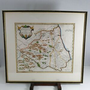 Antique Coloured Map Of Durham By Robert Morden 1695