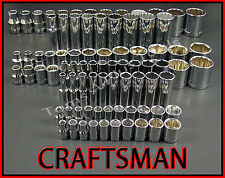 CRAFTSMAN HAND TOOLS 88pc 1/4 3/8 1/2 Dr SAE ratchet wrench socket set FREE SHIP