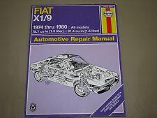 Haynes Repair Manuals Fiat X1/ 9 1974-1980 all models 1.3L & 1.5L