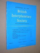 JOURNAL OF THE BRITISH INTERPLANETARY SOCIETY. SEPT-OCT 1960. VOL 17 No.11 JBIS