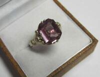 Nice Retro Vintage Ring Gilt Sterling Silver 875 Alexandrite Antique USSR Size 8
