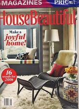 LOT 2 in 1 HOUSE BEAUTIFUL Trends for 2016 ELLE DECOR High Style Holidays Joyful