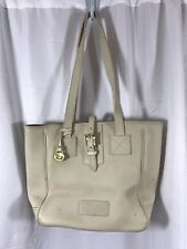 Vintage Dooney & Bourke Pebble Beige Leather Tote Bag USA Made + Duck FOB