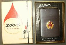 VINTAGE 1962 ZIPPO ADVERTISING LIGHTER 14K GOLD & RUBY PERMACEL LOGO