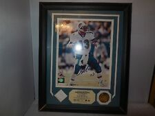 1992 dan marino game piece used jersey by highland mint and signed photo