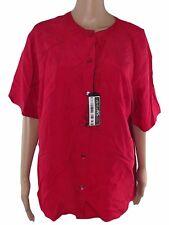 germano zama maglia blusa donna rosso seta taglia xxl extra large