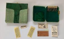Vtg BUXTON Matching Key Case & Coin Purse Ladies Bifold Wallet Fashion Green