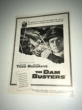 DAM BUSTERS Movie Trade Ad World War 2 RAF 617 Squadron WW II Bomber Poster