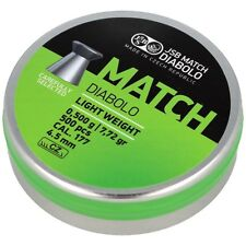 JSB MATCH DIABOLO Light Weight Green 4.49mm .177 500 pcs 7.72gr  Airgun Pellets