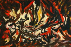 Jackson Pollock The Flame Giclee Art Paper Print Paintings Poster Reproduction