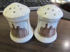 ANTIQUE - SCRANTON PA - POST OFFICE - SOUVINER SALT & PEPPER SHAKERS  EXCELLENT