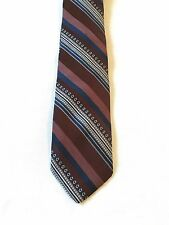 "Men's Neck Tie by Surrey Collection ~ 57"" x 4"" ~ Diagonal Stripes ~ Burgundy..."