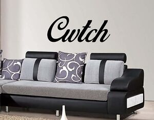 Cwtch Wall Art Sticker Home lounge Bedroom living room Welsh Love Quote Diy