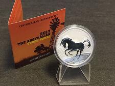 1 oncia Australia Stockhorse Stock Cavallo 2017 999 Argento Edizione solo 10000