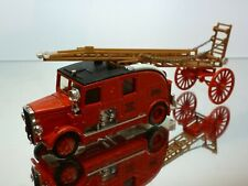 MATCHBOX Y9 1936 LEYLAND CUB LADDER TRUCK - FIRE ENGINE - RED 1:43? - VERY GOOD