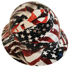 Hard Hat Full Brim American Flags 6 Point Harness w/ Free Brb Customs T-Shirt