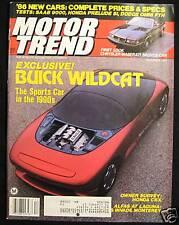 MOTOR TREND Magazine December 1985 Saab 9000 Turbo