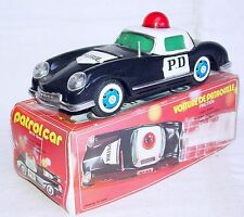 China MF-798 AUSTIN WOODILL PD POLICE Tin Plated Friction Car 22cm Black MIB`70!