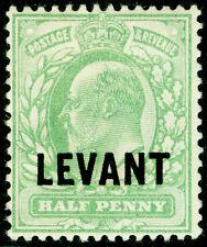 BRITISH LEVANT SGL1, ½d pale yellowish green, M MINT.