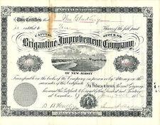 NEW JERSEY 1882, Brigantine Improvement Company Stock Certificate,  Brigantine