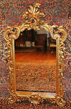 Large Fantastic French Rococo Style Gilt Gold Mirror