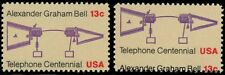 1683, MNH 13¢ Telephone Misperforation ERROR Stamp With Normal - Stuart Katz