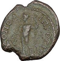 SEPTIMIUS SEVERUS 193AD Dionysus Wine God Nicopolis ad Istrum Roman Coin i45237