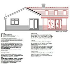 UPDATED FOR 2020 - SINGLE STOREY EXTENSION CAD PLANS - PLANNING & BUILDING REGS