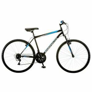 """Roadmaster Granite Peak Mountain Bike for Men -  Black/Blue 26"""" Frame"""
