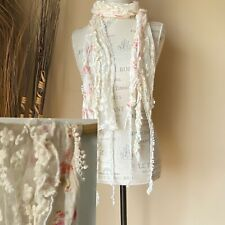 Romantic Prairie Style Floral And Lace Scarf
