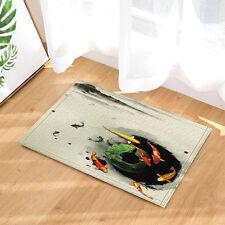 Ink painting koi Floor Bathroom Carpet Rug Home Non Slip Door Floor Mat Rugs New