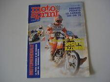 MOTOSPRINT 43/1983 KAWASAKI Z650 Z 650 SR/YAMAHA 500 OW 70/RALLY DEI FARAONI
