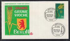 W 02 ) Germany Berlin 1975 beautiful FDC  50 years International Green Week