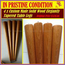 Dining Table Wooden Legs S/Steel Ferrules Custom Made  Elegantly Tapered 70cm