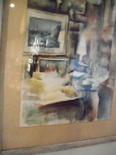 Large Watercolor, Frances Keating Buell, Studio Interior, 1940