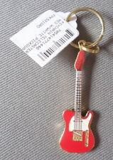 "Telec 00004000 aster Red w White Pickguard Guitar Keychain 2-1/4"" Harmony Jewelry"