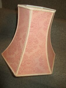 VTG St Michaels ( Marks & Spencer ) hexagon demask rose blush pink lampshade