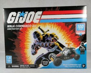 GI Joe Snake Eyes Ninja Commando 4X4 Construction Set 100 Pieces - Free Shipping