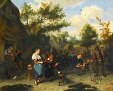 Cornelis Dusart  Peasants Playing Skittles Before An Inn  Wall  Art  Canvas