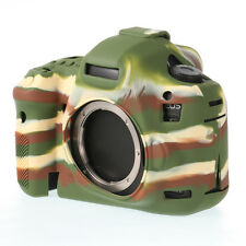 Silicone Armor Skin Case Camera Cover Bag F Canon 5D Mark III 3 5Ds R Camouflage