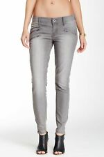 Lucky Brand Women's Charlie Super Skinny Moto Jeans Size 0 / 25 Petite NWT Gray