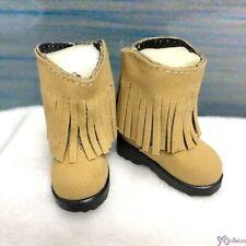 Yo-SD 1/6 BJD Doll Shoes Velvet Tassel Boots Brown SHU045BRN (for Foot 4.5cm )