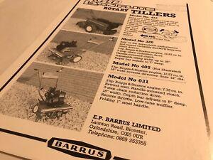 BARRUS MTD LawnFlite Mower Rotary Tillers Original 1980s Sales Brochure