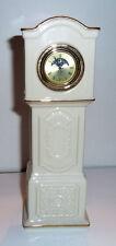 Ceramic Lenox Table Clock Patriarch Quartz Movement Sun-Moon Dial 1999-2000