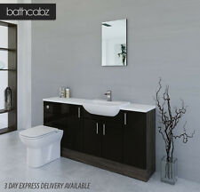 BLACK / MALI WENGE BATHROOM FITTED FURNITURE 1700MM